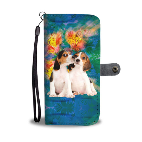 Cute Beagle Dog Print Wallet Case-Free Shipping