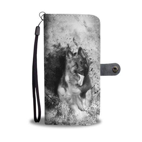 German Shepherd Black & White Wallet Case- Free Shipping
