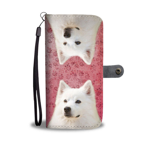 Cute American Eskimo Dog Print Wallet Case-Free Shipping