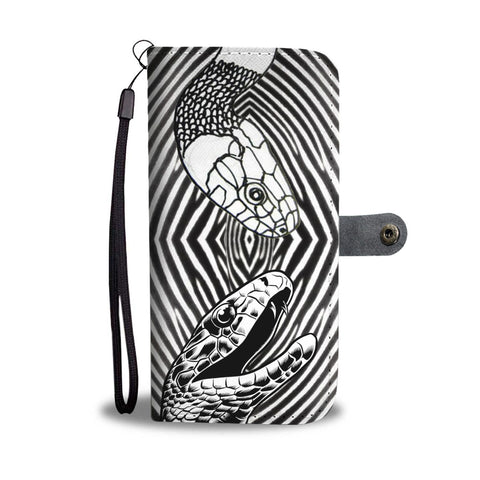 Black & White Snake Print Wallet Case-Free Shipping