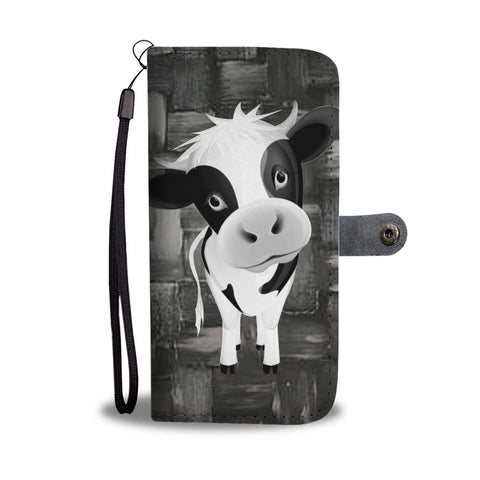 Black & White Cow Print Wallet Case-Free Shipping