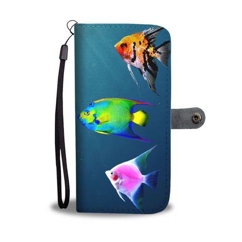 AngelFish Print Wallet Case-Free Shipping