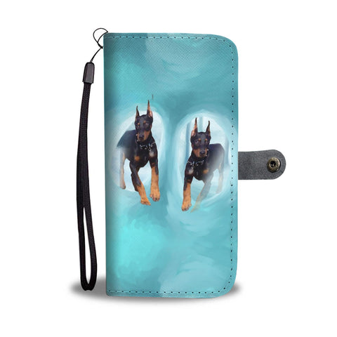 Doberman Pinscher Dog Print Wallet Case-Free Shipping