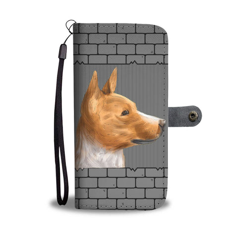 Cute Basenji Printed on wall Wallet Case-Free Shipping
