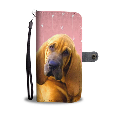 Lovely Bloodhound Dog Print Wallet Case-Free Shipping
