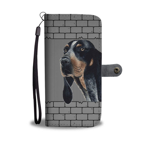 Cute Bluetick Coonhound Dog Printed on wall Wallet Case-Free Shipping