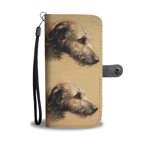Amazing Irish Wolfhound Dog Print Wallet Case-Free Shipping