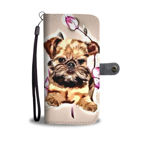 Cute Brussels Griffon Puppy Print Wallet Case-Free Shipping
