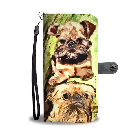 Cute Brussels Griffon Painted Wallet Case-Free Shipping