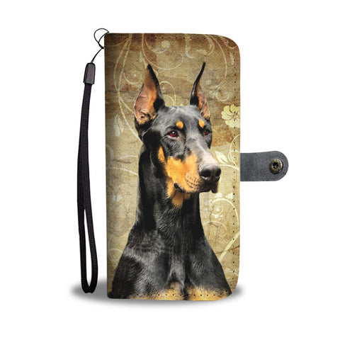 Doberman Pinscher Print Wallet Case- Free Shipping
