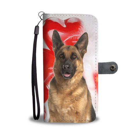 Cute German Shepherd Print Wallet Case- Free Shipping