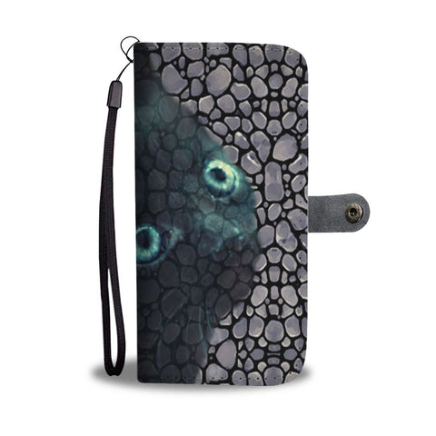 Amazing Ojos Azules Cat Print Wallet Case-Free Shipping