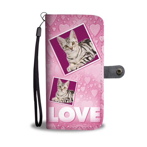American Shorthair Cat Print Wallet Case-Free Shipping