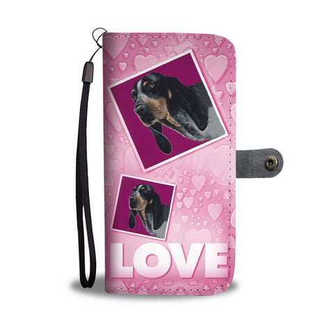 Bluetick Coonhound Dog with Love Print Wallet Case-Free Shipping