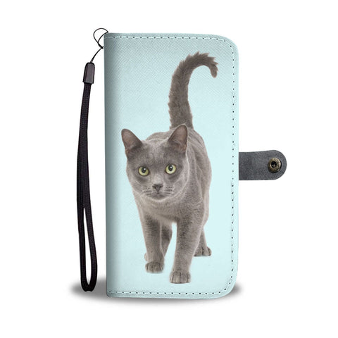 Amazing Korat Cat Walking Print Wallet Case-Free Shipping