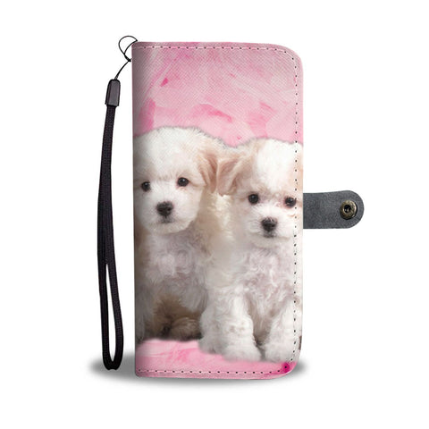 Bichon Frise Puppies Print Wallet Case- Free Shipping