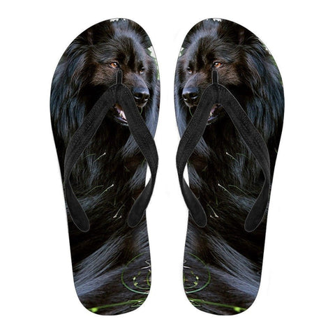 Belgian Sheepdog Flip Flops For Women- Free Shipping-Paww-Printz-Merchandise