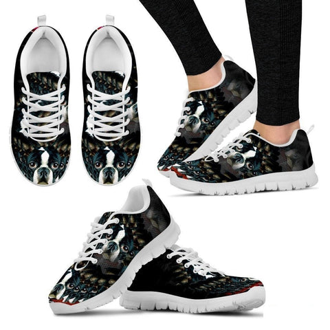 Boston Terrier Dog Print Running Shoe Women - Free Shipping-Paww-Printz-Merchandise
