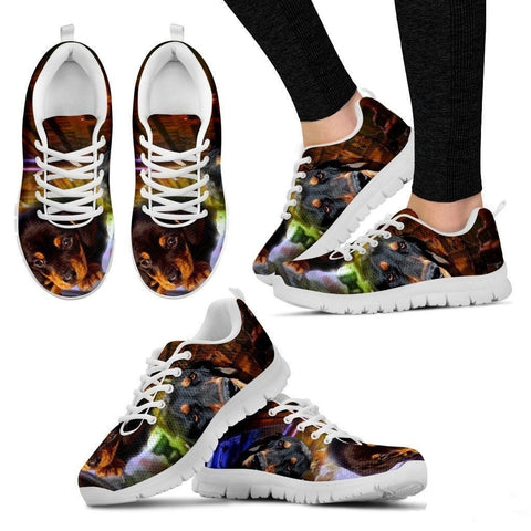 Coonhound Dog Print Running Shoe For Women- Free Shipping-Paww-Printz-Merchandise
