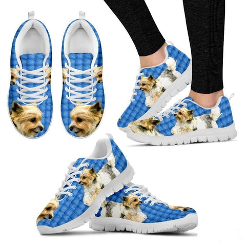 Customized Dog Print (Black/White) Running Shoes For Women Designed By Shanan Roth-Free Shipping-Paww-Printz-Merchandise