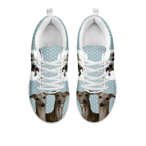 Amazing Whippet With Hearts Print Running Shoes For Women-Free Shipping-For 24 Hours Only-Paww-Printz-Merchandise