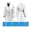Blank & White Snake Print Women's Bath Robe-Free Shipping