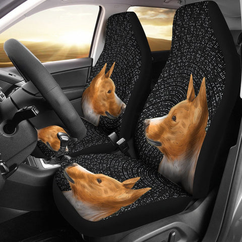 Cute Basenji Dog Print Car Seat Covers- Free Shipping