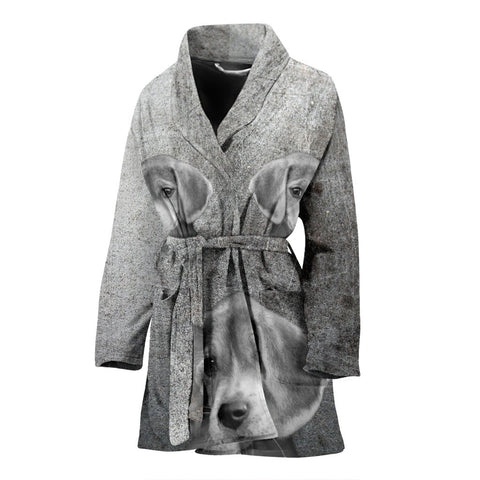 Cute Beagle Print Women's Bath Robe-Free Shipping