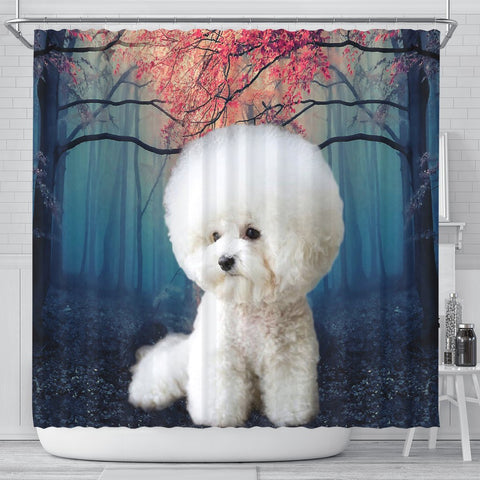 Bichon Frise Print Shower Curtains-Free Shipping