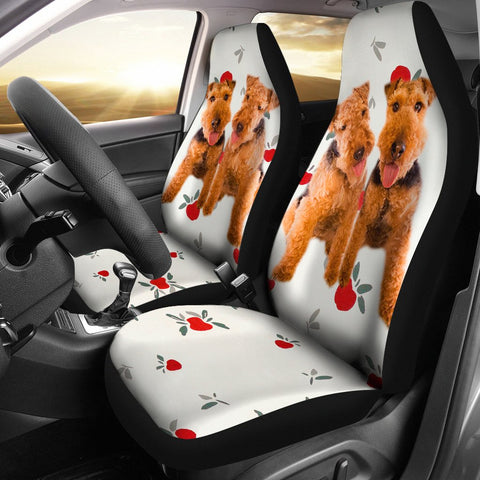 Welsh Terrier Print Car Seat Covers-Free Shipping