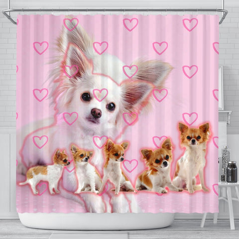 Chihuahua Print Shower Curtains-Free Shipping