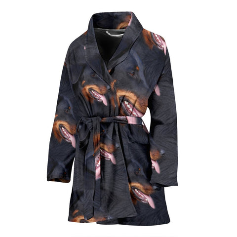 Amazing Beauceron Dog Patterns Print Women's Bath Robe-Free Shipping