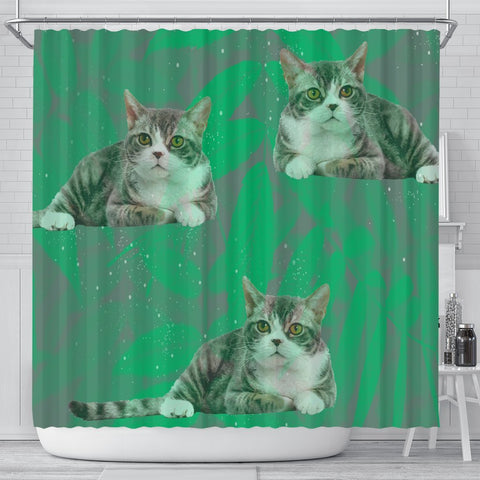 American Wirehair Cat Print Shower Curtains-Free Shipping