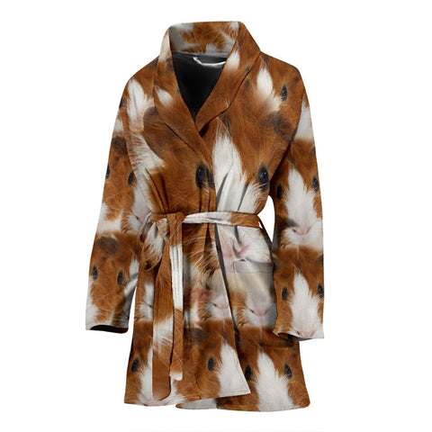 Abyssinian guinea pig Print Women's Bath Robe-Free Shipping