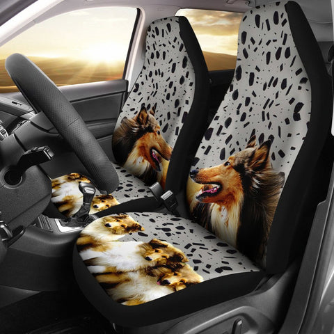Amazing Rough Collie Dog Print Car Seat Covers-Free Shipping