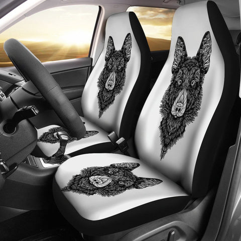 German Shepherd Art Print Car Seat Covers- Free Shipping