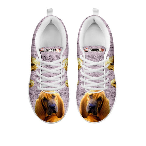 Amazing Bloodhound Dog-Women's Running Shoes-Free Shipping-For 24 Hours Only-Paww-Printz-Merchandise