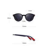 Men's oval sunglasses