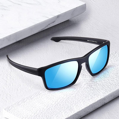 Men's mirrored sports sunglasses