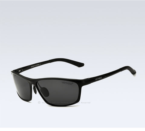 Rectangular polarization sunglasses for men - Plus Style