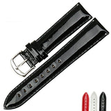 Lacquered leather watchband - Plus Style