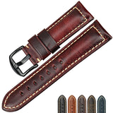 Genuine leather strap with black buckle - Plus Style