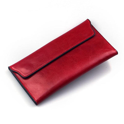 Thin and long leather wallet for every day - Plus Style