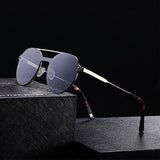 Sunglasses for men, double bridge - Plus Style