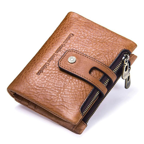 Wallet made of genuine leather in English style - Plus Style