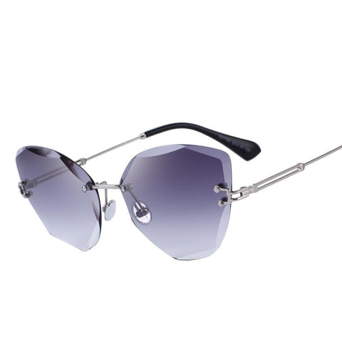 Sunglasses for women, gradient lens - Plus Style