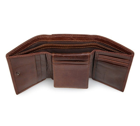 Men's multifunction leather wallet - Plus Style