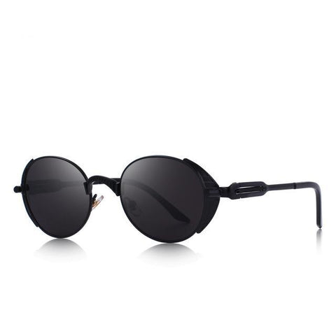 Mirrored sunglasses for women in oval style - Plus Style