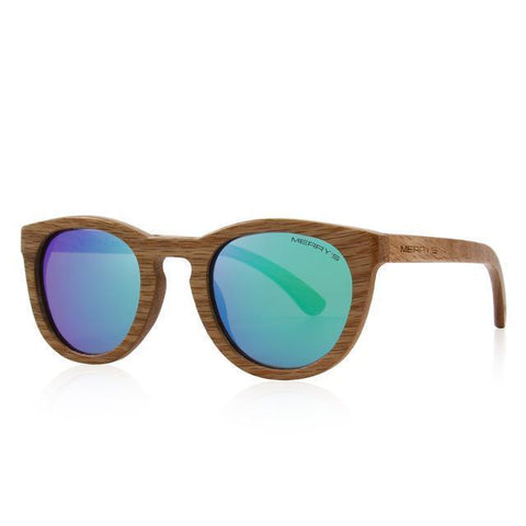 Women's glasses in wooden frame - Plus Style