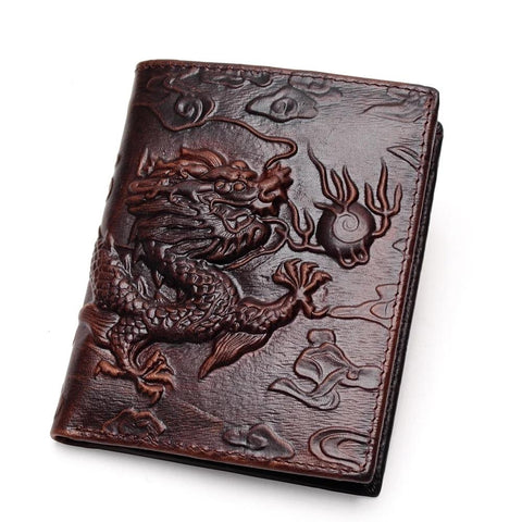 Men's wallet with dragon print